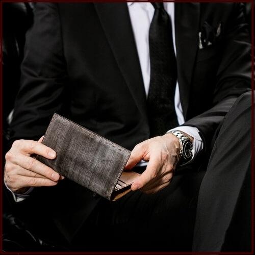 日本製の革財布ブランドの例(ココマイスター)